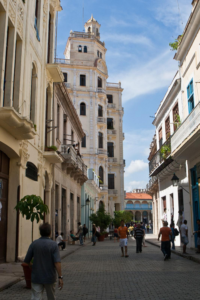 Walking through Old Havana