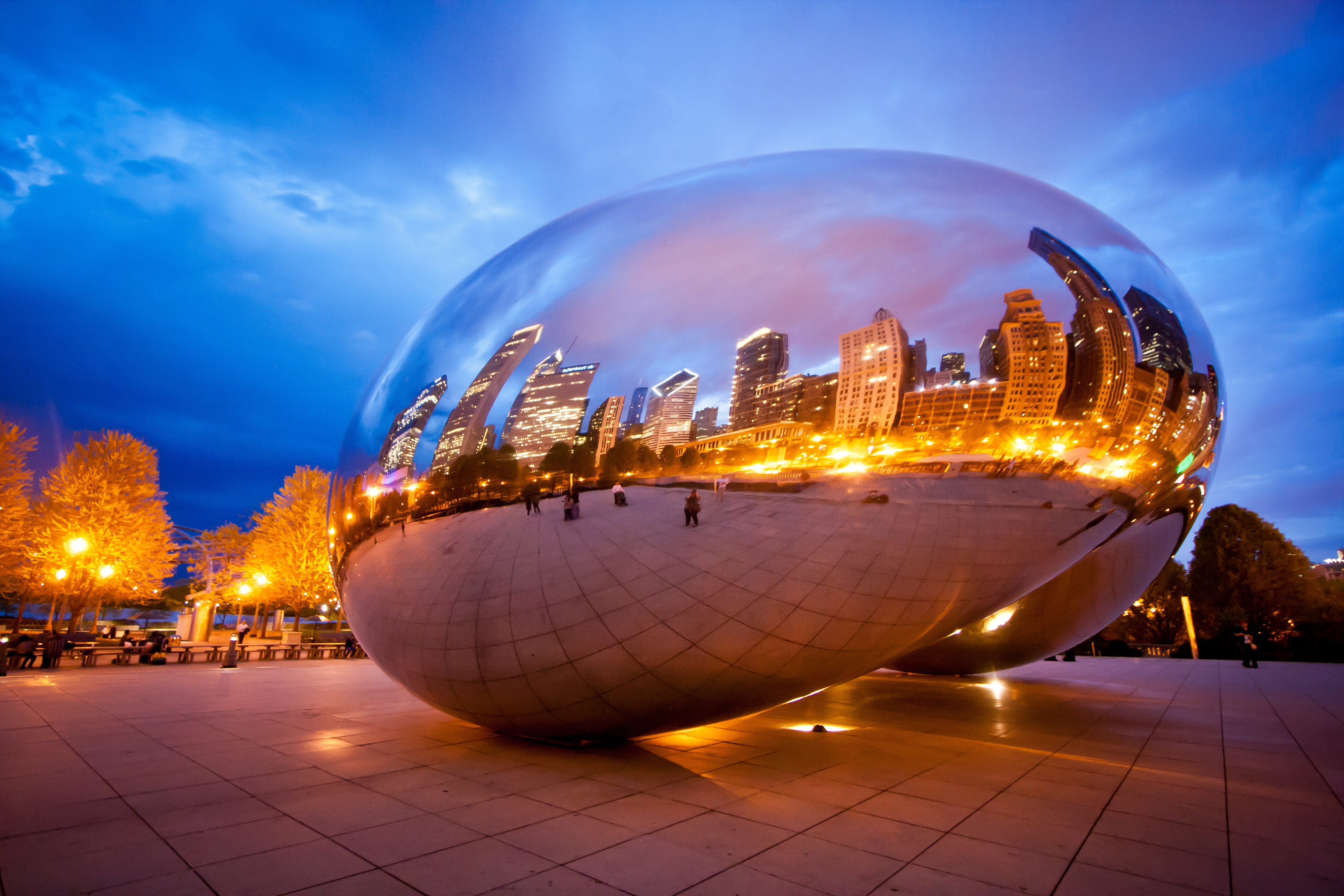 """Chicago's """"Bean"""" at Dusk"""