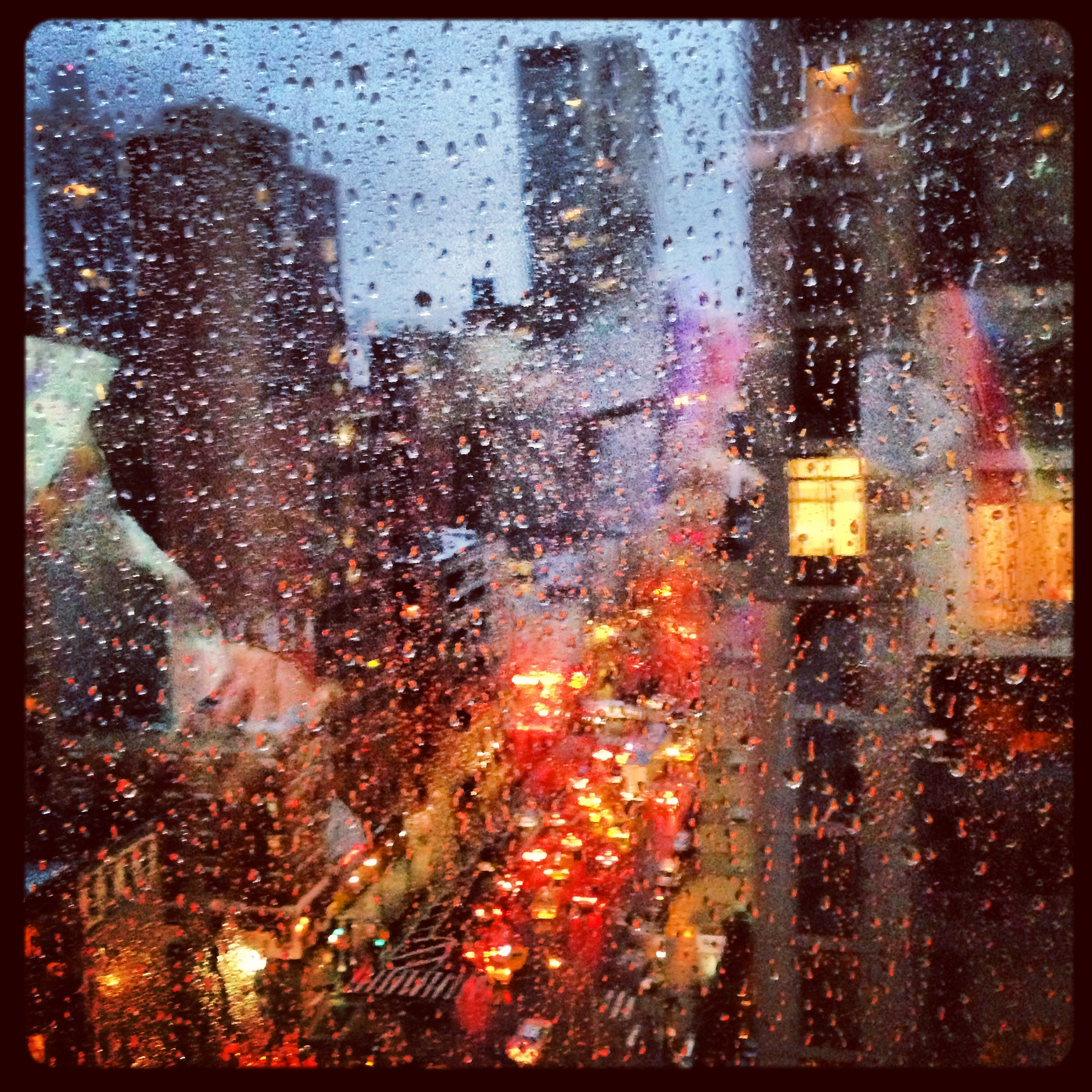 Taken on a rainy evening from the Roosevelt Island Tram.