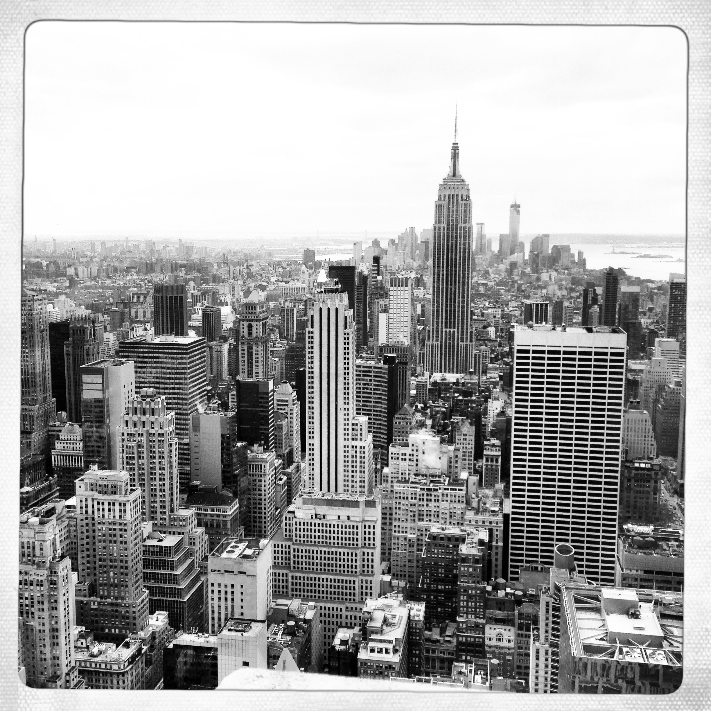 "View of New York City from the ""Top of the Rock""."